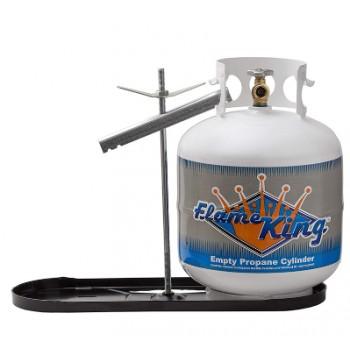 Support de réservoir à propane double noir - 20lb.