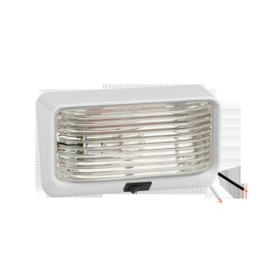 Lampe de porche blanche rectangulaire