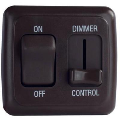 Interrupteur avec gradateur noir DEL