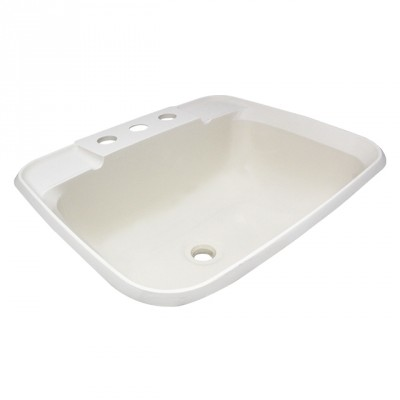 Lavabo rectangle parchemin 12'' x 15''