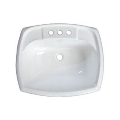 Lavabo rectangle blanc 12'' x 15''