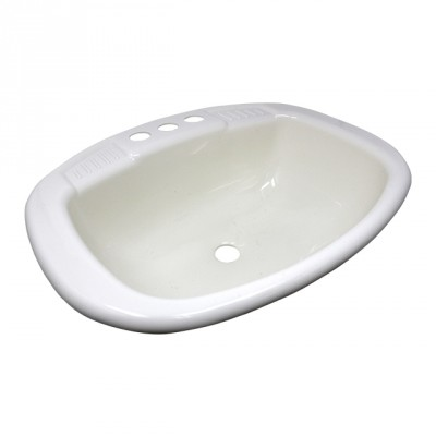 Lavabo rectangle blanc 20'' x 16''