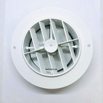 Registre de chauffage rond blanc
